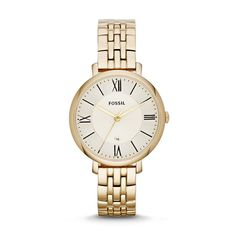 Fossil Jacqueline Three-Hand Stainless Steel #Watch #Gold-Tone