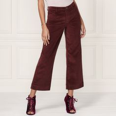 8fbefedbb446f LC Lauren Conrad Runway Collection Wide-Leg Ankle Corduroy Pants - Women's