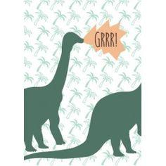 8 cartons d'invitation anniversaire dinosaure