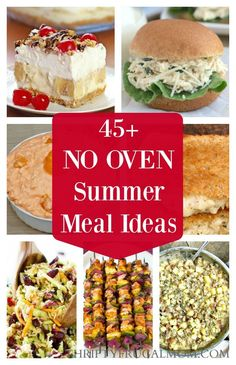 Hate heating your kitchen to make meals when it's hot outside? Check out these great no oven dinner ideas perfect for summer! Hate heating your kitchen to make meals when it's hot outside? Check out these great no oven dinner ideas perfect for summer! Hot Day Dinners, Easy Summer Dinners, Cold Meals, Easy Meals, Summer Dinner Ideas, Light Summer Meals, Hot Weather Meals, Hot Weather Food, Summer Dishes