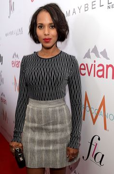 This week's look of the week! @kerrywashington for bravely combining prints and patterns! Just more proof that this is A-OK!