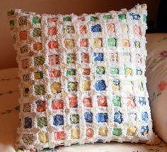 How to make chenille-look pillow - love it!