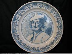 Rare assiette en faïence de MARSEILLE - XVIIIème siècle