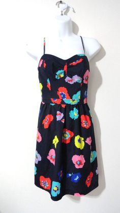 American Eagle AE MOD Printed Pattern Sundress Dress Cocktail 4 Small S #AmericanEagle #Sundress #Cocktail