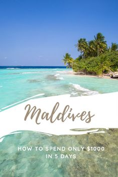 Maldives on a Budget - I Spent Less Than $1000 on my 5D5N Maldives Holiday! | Bel Around The World. #beach #travel #adventure #photography #island #wanderlust #tour #vacation