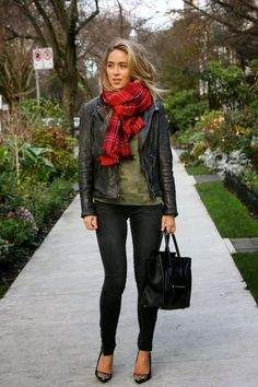 A Fashion Love Affair - Posts - Wrapped InPlaid and leather