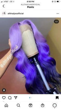 Black Girl Braided Hairstyles, Baddie Hairstyles, Weave Hairstyles, Pretty Hairstyles, Multicolored Hair, Colorful Lace Front Wigs, Colored Wigs, Colored Weave, Curly Hair Styles