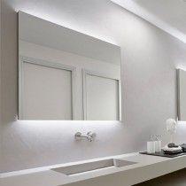 antoniolupi FLASH LED-Spiegel mit polierten Kanten und weissen LED oben und unten