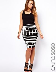 #asos                     #Skirt                    #ASOS #CURVE #Pencil #Skirt #Rocco #Print #asos.com                           ASOS CURVE Pencil Skirt In Rocco Print at asos.com                            http://www.seapai.com/product.aspx?PID=1355938