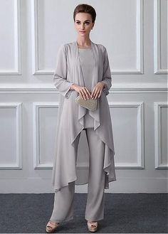 Magbridal Chic Pant Suits Chiffon Jewel Neckline Full-length Mother Of The Bride. hose, Magbridal Chic Pant Suits Chiffon Jewel Neckline Full-length Mother Of The Bride. Mother Of The Bride Trouser Suits, Mother Of Bride Outfits, Mother Of Groom Dresses, Mothers Dresses, Mother Bride Dress, Mother Of The Bride Dresses Vintage, Country Wedding Guest Dress, Dress Plus Size, Mom Dress