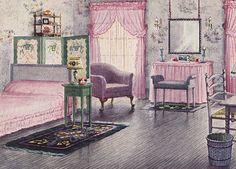 Bedroom, c. 1930.