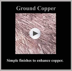 "#1 in the ""Copper Finishes & Texturing"" series"