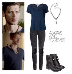 Klaus mikaelson 1x02 - the originals by shadyannon on Polyvore featuring Splendid, H&M, TALLY WEiJL, Rosantica, women's clothing, women's fashion, women, female, woman and misses