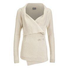 Vero Moda Women's Ripa Long Sleeve Cardigan - Oatmeal (33 AUD) ❤ liked on Polyvore featuring tops, cardigans, sweaters, jackets, women, cream, drapey cardigan, long oversized cardigan, drape top and long sleeve tops