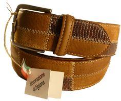 Leather belt for men, Florentine leather
