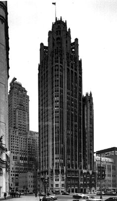 The Tribune Tower, Chicago, IL. Building is a little dark in hallways but is a great piece of architecture. Traditional Chicago Style Architecture -  Great for an Art Collection