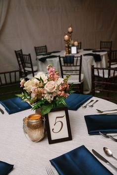 Pink & Blush Centerpiece with Gold Table Number | Pure7Studios