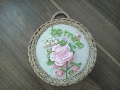 St. Valentine's gift. The size: 1. Be mine D = 11cm (4.5) 2. Heart of roses D = 11cm (4.5) 3. Daisies D = 11cm (4.5)  The pictures are sold in handmade frames made of pure ligature tree. The priсe 12.25 is for one picture. The pictures are sold separately.  EXPRESS SHIPPING