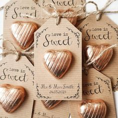 Love is Sweet Chocolate Heart Wedding Favour Etsy Sweet Wedding Favors, Chocolate Wedding Favors, Winter Wedding Favors, Creative Wedding Favors, Inexpensive Wedding Favors, Wedding Favour Sweets, Wedding Gifts For Guests, Wedding Favor Tags, Edible Wedding Favors