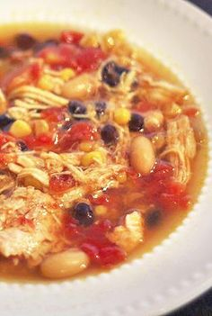 Skinny Crock Pot Chicken Tortilla Soup