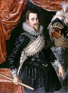 Christian IV, lived 1577–1648, King of Denmark-Norway from 1588 until his death. son of Frederick II, King of Denmark-Norway, and Sofie of Mecklenburg-Schwerin, married  Anne Catherine of Brandenburg, then Kirsten Munk; longest-reigning monarch of Denmark (more than 59 years) and frequently remembered as one of the most popular, ambitious and proactive Danish kings. 3X maternal great-grandfather of Catherine the Great.