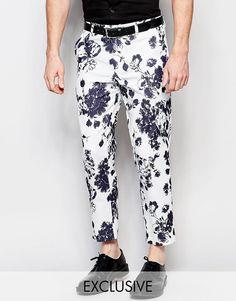 Image 1 - Reclaimed Vintage - Pantalon skinny à fleurs