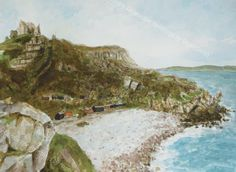 Church Ope Cove, Portland, Dorset. Watercolour by Nigel Smith 2012