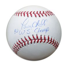 """Paul O'Neill Autographed Official MLB Baseball Inscribed """"""""90 WS Champ"""""""""""