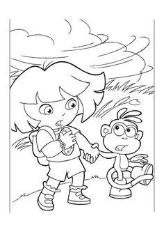 Dora de Explorer Kleurplaten voor kinderen. Kleurplaat en afdrukken tekenen nº 3