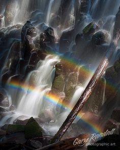 Ramona Falls Double Rainbow by Gary Randall Oregon Rainbow Sky, Love Rainbow, Over The Rainbow, Beautiful Sky, Beautiful World, Beautiful Places, Beautiful Pictures, Ramona Falls, Rainbow Connection