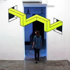 Художественная инсталляция в Риме на основе 3D-иллюзий Vantage
