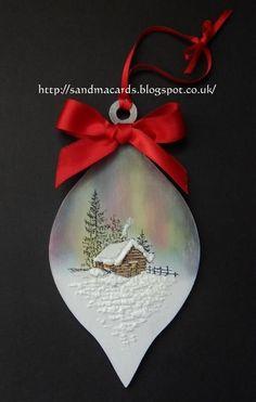 Sandma's Handmade Cards: Last of the Christmas samples - Inkylicious Winter Cabin Stamp Set