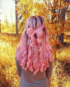 Fabulous Pink Braided Hairstyles with Curls in 2018 Make your braided and wedding hairstyles look more elegant and attractive by adding the stunning pink haur colors right now. If you are also thinking to upgrade your whole hair looks and hair color Pretty Braided Hairstyles, Hairstyle Look, Cute Hairstyles, Wedding Hairstyles, Braid Hairstyles, Fantasy Hairstyles, Pool Hairstyles, Hairstyles Pictures, Hairstyles Videos