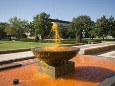 Orange Fountain at Oklahoma State University