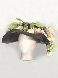 Image result for Edwardian Straw Hats with flowers