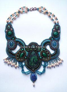 Embroidered jewelry by Ksenia Burzalova