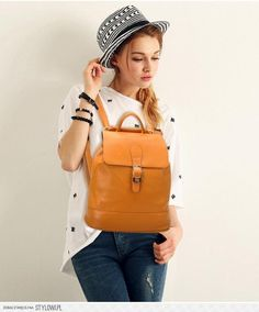 Fashion Calfskin Casual Flap Backpacks/Sling Bags