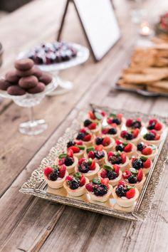Berry Tartlets, wedding dessert table, by Christina Bonnett