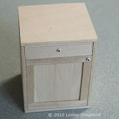 Make Opening Base Cabinets for a Dolls House FittedKitchen