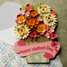 Mothers Day Flower Pot Card SVG Kit - $3.99 : SVG Files for Silhouette, Sizzix, Sure Cuts A Lot and Make-The-Cut - SVGCuts.com For Mothers day
