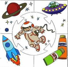 astronaut puzzle | Crafts and Worksheets for Preschool,Toddler and Kindergarten
