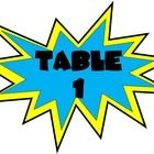 This file contains a total of 6 Action Table numbers that I designed for use in your classroom with a superhero theme.  I plan on attaching them to...