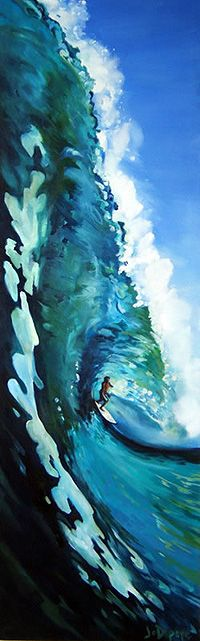 Awesome surf art! Joanne dePape I don't know how this would fit into our house style but Mark would like it!
