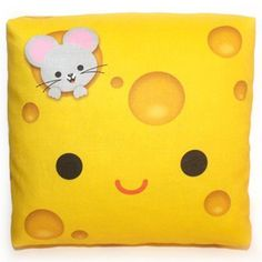 Mini Happy Cheese Pillow