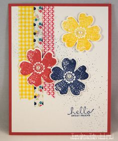 Love this Flower Shop card with Washi Tape