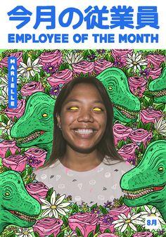 employee of the month kuli alma by - pupik  dinosaurs flowers