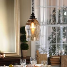 Update your ceiling lighting with Kirkland's! Whether you're looking for a chandelier, pendant lighting, or other ceiling lights, we're always illuminating! Glass Pendant Light, Chandelier Pendant Lights, Glass Pendants, Kitchen Pendants, Pendant Lamp, Attic House, Attic Rooms, Attic Floor, Attic Closet