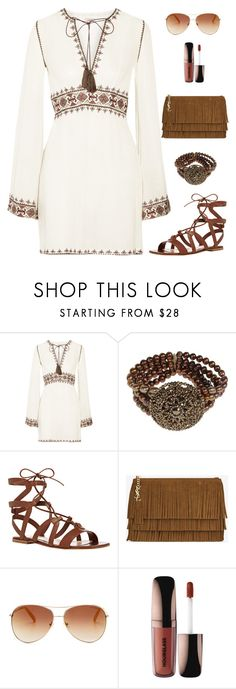 """Just Feeling It"" by renee-switzer ❤ liked on Polyvore featuring Talitha, Gianvito Rossi, Yves Saint Laurent, Tommy Hilfiger and Hourglass Cosmetics"