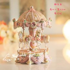 A carousel music box that I saw in Switzerland in 2005 inspired the theme of my baby's room!