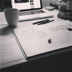 Session illustration : GO ! Un texte sympa, un peu de musique, un petit thé et c'est parti pour du dessin comme j'aime… :D